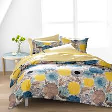 blue and yellow duvet cover king