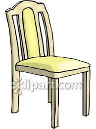 dining chair clipart. simple wooden chair - royalty free clipart picture dining