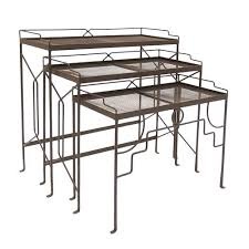 wrought iron indoor furniture. ACHLA Designs Wrought Iron Rectangular Nesting Tables, Set Of Three Indoor Furniture
