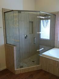 semi frameless shower door with chrome hardware