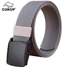 Mens Designer Accessories Us 10 2 32 Off Cukup Mens Designer Quality Outdoor Wear Resistant Canvas Belts Thickening Plastic Buckle Male Casual Accessories Belt Cbck068 In