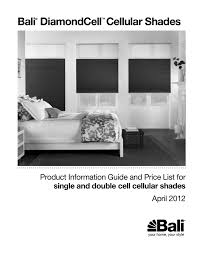 Bali Blinds Price Chart Bali Diamondcell Cellular Shades Product Information Guide