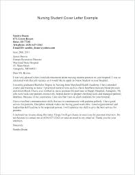 Nursing Student Cover Letter Examples Cover Letter New Grad Cover