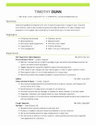 Medical Resume Objective Typical Examples Resumes Objectives Lovely