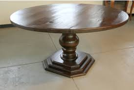 round farm table with octagonal pedestal base