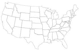Map Of The United States Coloring Page United States Map For