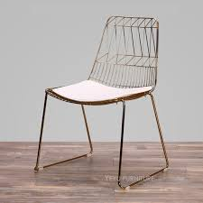bertoia wire chair. Modern Classic Wire Chair Rose Gold Or Color Harry Bertoia Metal Side