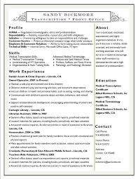 medical transcription cover letter medical billing and coding resume sample or medical transcription
