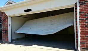 broken garage door in navarre