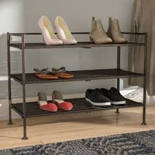 shoe organizer furniture. Utility 3 Tier 9 Pair Stackable Shoe Rack Organizer Furniture