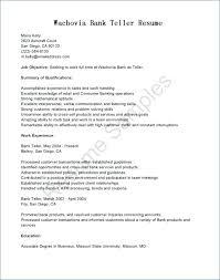 Skills For Bank Teller Resume Bank Teller Resume Description Sample