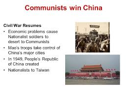 Communists win China Civil War Resumes