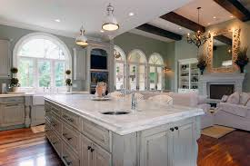Delightful White Distressed Kitchen Cabinets Kitchen Traditional With Arched Windows  Ceiling Lighting. Image By: SchaubSrote Architects Planners Interiors