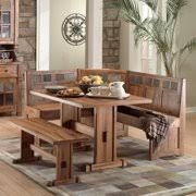 Image Upholstered Sunny Designs Sedona Piece Breakfast Nook Set Walmart Breakfast Nook Furniture