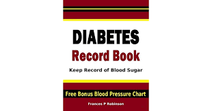 Diabetes Record Book Keep Record Of Blood Sugar In This