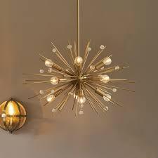 ashwin brass sputnik pendant light view large