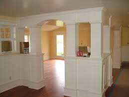 Column Molding Ideas Interior Heavenly Image Of Home Interior Decoration Using White