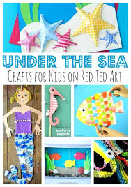 seahorse craft ideas for toddlers under the sea paper plate crafts kids red ted arts