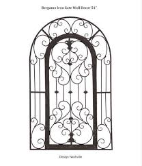 bergamo iron gate wall decor 51  on tuscan style wrought iron wall decor with bergamo iron gate wall decor 51 arch top tuscan style affordable