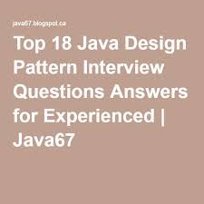 Java Design Patterns Interview Questions Gorgeous Top 48 Java Design Pattern Interview Questions Answers For