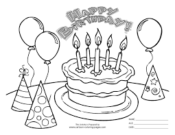 Birthday Party Coloring Pages Bing Images Birthday Cumpleaños