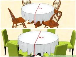how many people can sit at a 60 round table image titled choose a tablecloth size