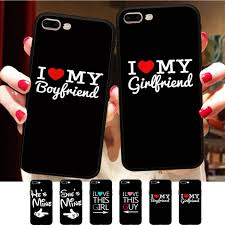 Us 199 35 Offi Heart My Boyfriend Girlfriend Funny Couple Matching Quotes Cover For Iphone X 8 5 5s Xr Xs Max Se 6 6s 7 Plus Soft Phone Case In