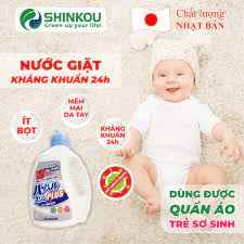 Nước giặt kháng khuẩn 24h cho trẻ sơ sinh SHINKOU (MADE IN JAPAN) - Dùng  được cho đồ em bé