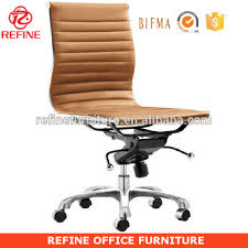synthetic leather modern armless office chair no arms rfs075w m71