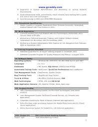 System Administrator Resume Format For Fresher 34 Fresh Software