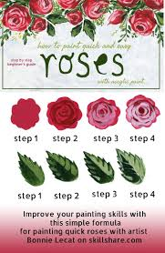 how to paint easy roses with acrylic paints via bmurphylecat