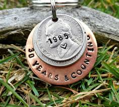 38th wedding anniversary gift awesome 30 year anniversary keychain 30th anniversary handsted for her of 38th