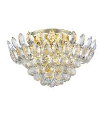 elegant lighting 3002f16g rc vesper 5 light 16 inch gold flush mount ceiling light urban classic