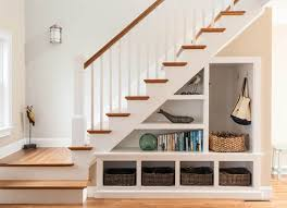 Looking for something more traditional? A mix of open storage cubby holes  lets you both. Desk IdeasEntryway StairsUnder ...