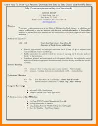6 Resume For Teaching Position Job Apply Form