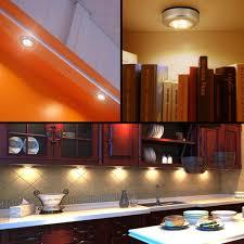 closet lighting battery. LE LED Battery-Operated Stick-On Tap On Light, Touch Lamp, MINI Under Cabinet Lighting, 3 Puck Light Bulbs, Wireless Night Closet Lighting Battery T