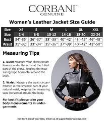 corbani genuine womens size guide