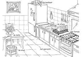 Kleurplaat De Keuken Inclusief Zelfstandig Naamwoord Lidwoord