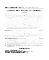 Personal Trainer Resume Delectable Personal Training Resume Sample Letsdeliverco