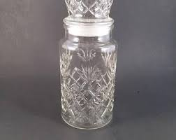 Decorative Glass Jars With Lids Vintage glass jar with lid Etsy 35