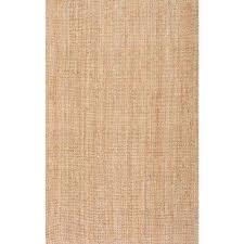 ashli solid jute natural 6 ft x 9 ft area rug
