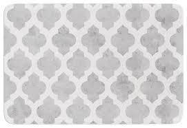 marvelous gray and white bathroom rugs houzz amanda lane gray moroccan gray white memory foam
