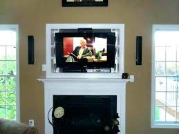 mounting flat panel tv brick fireplace mount on hide wires a wir