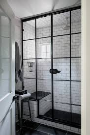 black frame. Bathroom Design Ideas - Black Shower Frames // The Window-like Frame On