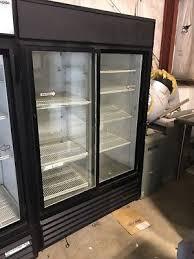 true 2 door refrigerator glass sliding doors cooler