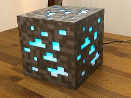 Diamond Ore Light 8 Bit Minecraft Diamond Ore Lamp Siri Enabled 3dprinting