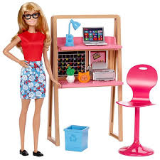 Barbie Doll and fice Furniture Playset DVX52