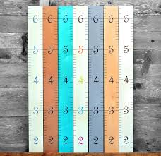 Wooden Ruler Growth Chart Kids Wood Height Chart