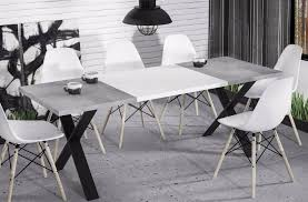 Hochwertiger Esstisch 130 170 Ausziehbar Beton Küche Esszimmer Metall Modern