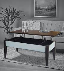crystal coffee table with storage